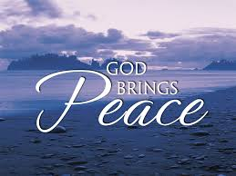 God brings peace