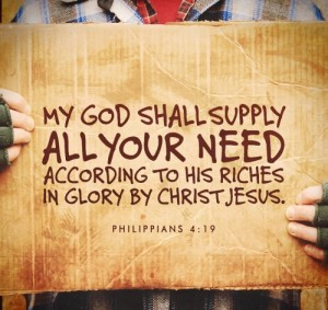God will supply