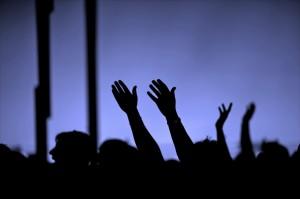 hands-raised