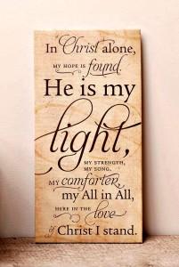 in Christ alone